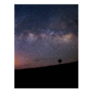 Death Valley milky way Sunset Postcard