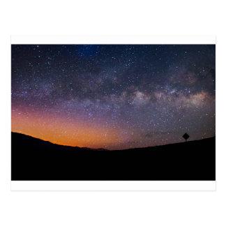 Death Valley milky way Sunset Postcard