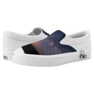 Death Valley milky way Sunset Slip-On Sneakers