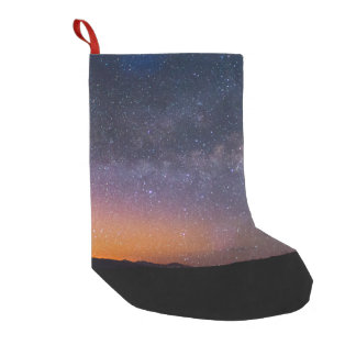 Death Valley milky way Sunset Small Christmas Stocking