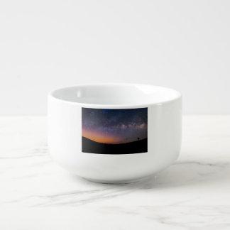 Death Valley milky way Sunset Soup Mug