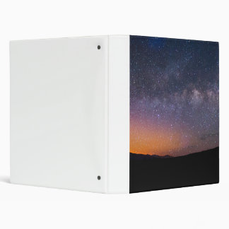 Death Valley milky way Sunset Vinyl Binder