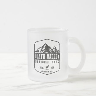 Death Valley National Park Frosted Glass Coffee Mug