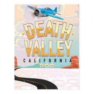 Death Valley USA vintage travel poster Postcard