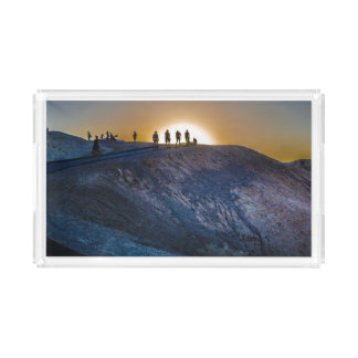 Death Valley zabriskie point Sunset Acrylic Tray