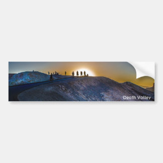 Death Valley zabriskie point Sunset Bumper Sticker