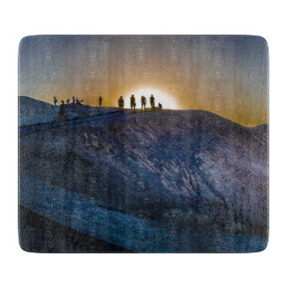 Death Valley zabriskie point Sunset Cutting Board