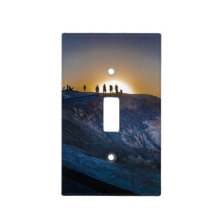 Death Valley zabriskie point Sunset Light Switch Cover