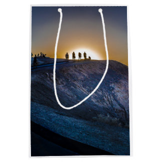 Death Valley zabriskie point Sunset Medium Gift Bag