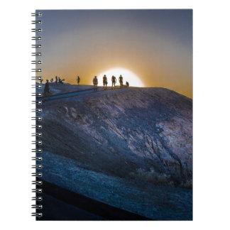 Death Valley zabriskie point Sunset Notebook