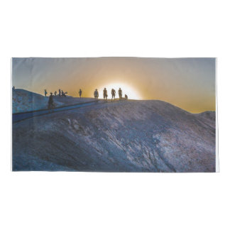 Death Valley zabriskie point Sunset Pillowcase