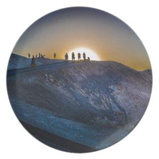 Death Valley zabriskie point Sunset Plate