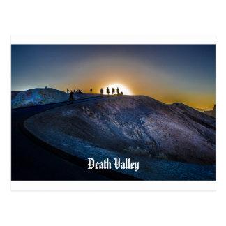 Death Valley zabriskie point Sunset Postcard
