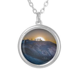 Death Valley zabriskie point Sunset Silver Plated Necklace