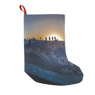 Death Valley zabriskie point Sunset Small Christmas Stocking