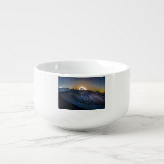 Death Valley zabriskie point Sunset Soup Mug
