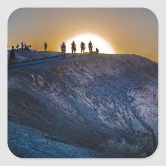 Death Valley zabriskie point Sunset Square Sticker