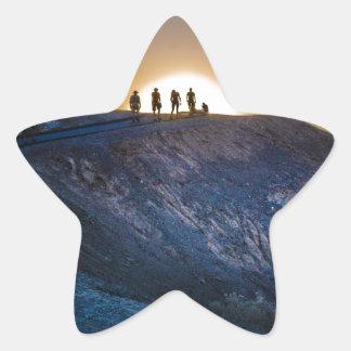 Death Valley zabriskie point Sunset Star Sticker