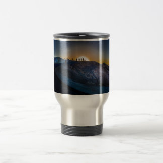 Death Valley zabriskie point Sunset Travel Mug