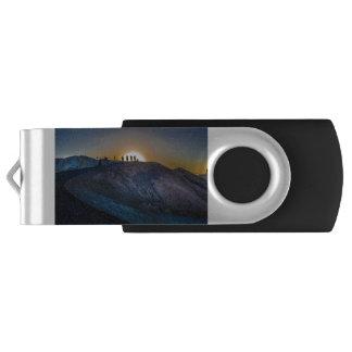 Death Valley zabriskie point Sunset USB Flash Drive