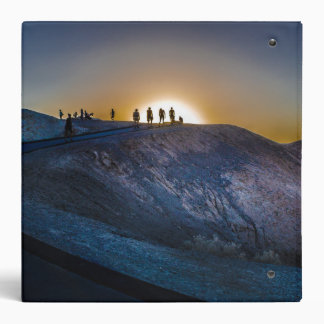 Death Valley zabriskie point Sunset Vinyl Binders