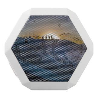 Death Valley zabriskie point Sunset White Bluetooth Speaker