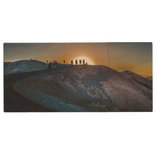 Death Valley zabriskie point Sunset Wood USB 2.0 Flash Drive