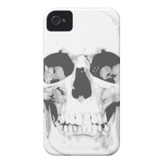 Death White Skull iPhone 4 Case