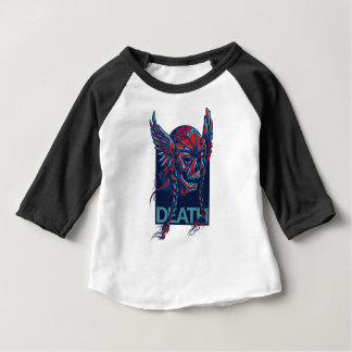 death with flying skull design baby T-Shirt