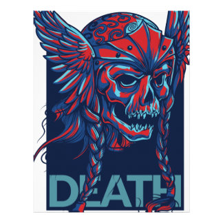 death with flying skull design customized letterhead