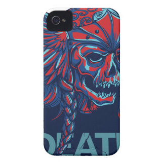 death with flying skull design iPhone 4 Case-Mate cases