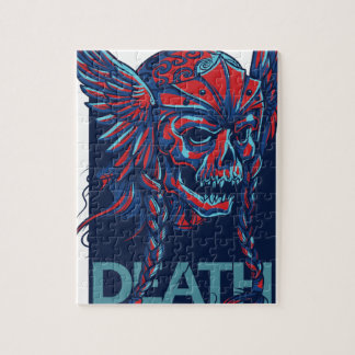 death with flying skull design jigsaw puzzle