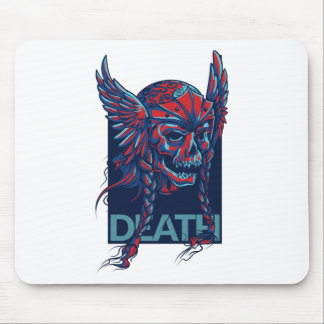 death with flying skull design mouse pad