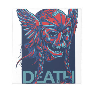 death with flying skull design notepad