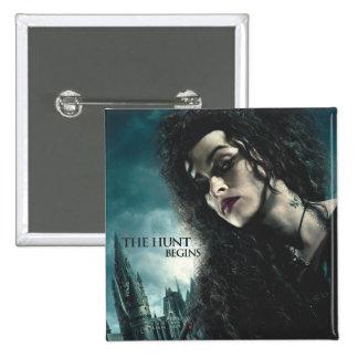 Deathly Hallows - Bellatrix Lestrange 2 2 Inch Square Button