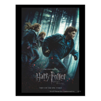 Deathly Hallows - Group Running Postcard
