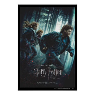 Deathly Hallows - Group Running Poster