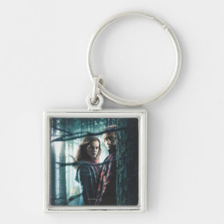 Deathly Hallows - Hermione and Ron Keychain