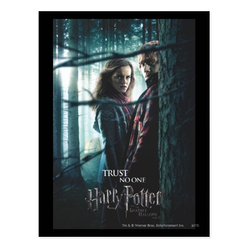 Deathly Hallows - Hermione and Ron Post Card