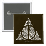 DEATHLY HALLOWS™ Typography Graphic 2 Inch Square Button