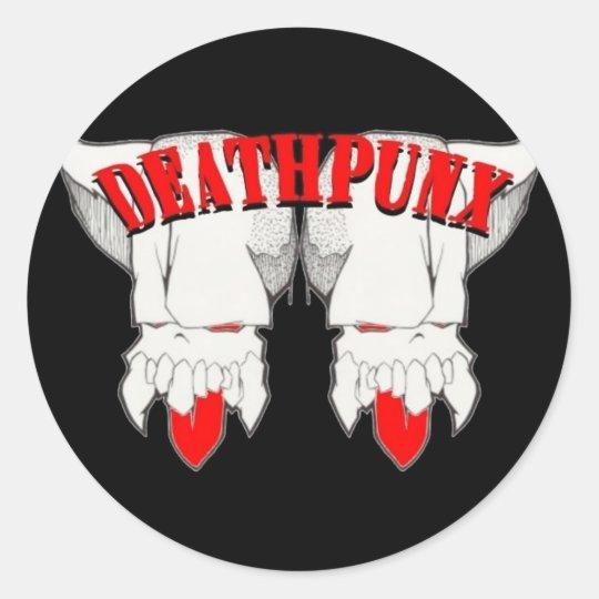 DEATHPUNX TM CLASSIC ROUND STICKER