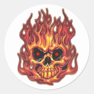 Death's Flames Classic Round Sticker