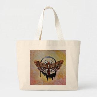 Death's Head Hawk Moth Large Tote Bag
