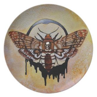 Death's Head Hawk Moth Plate