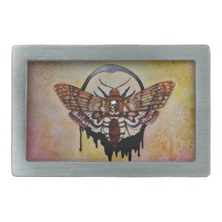 Death's Head Hawk Moth Rectangular Belt Buckle
