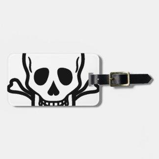 Death's head luggage tag
