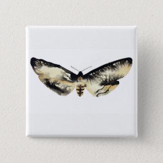 Death's Head Moth 2 Inch Square Button