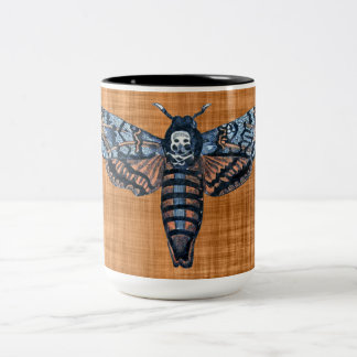 Death's Head Moth, aka Sphinx atropo moth Two-Tone Coffee Mug