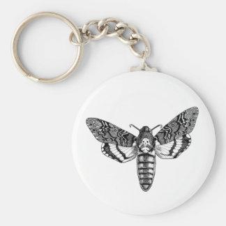 Death's-Head Moth Basic Round Button Keychain