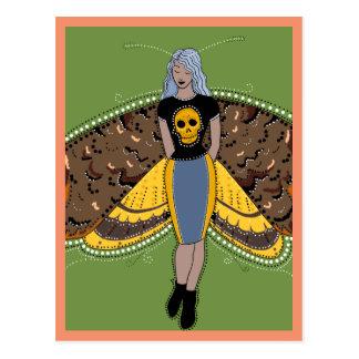 Death's head moth fairy postcard